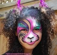 Stylized Cat Face Painting