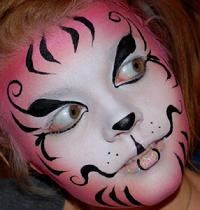 Cirque Cat Face Painting
